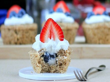 Fourth of July Cupcake