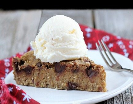 healthy chocolate chip cookie pie