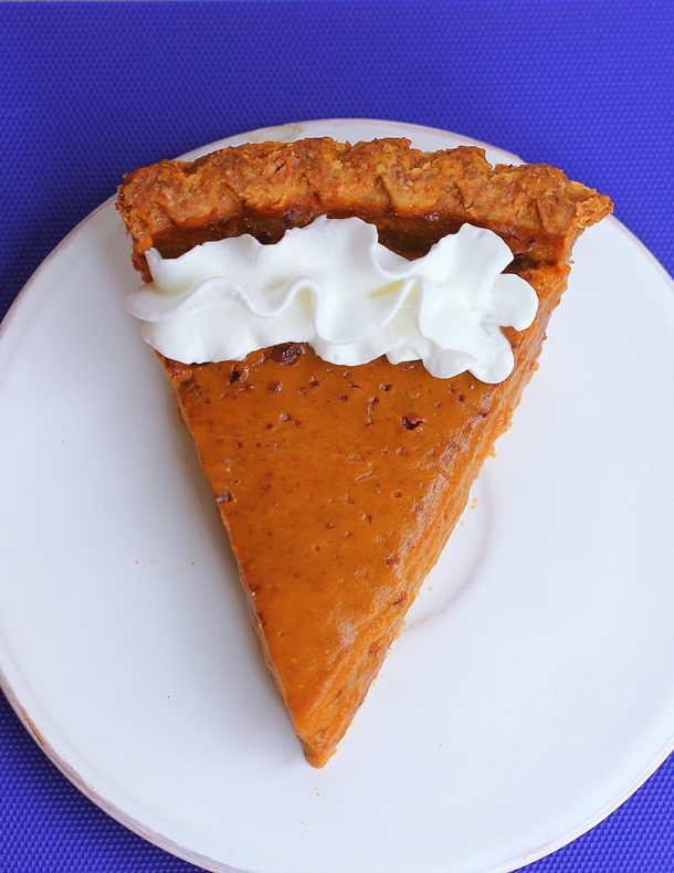 Healthy Sweet Potato Pie - (with homemade pie crust)