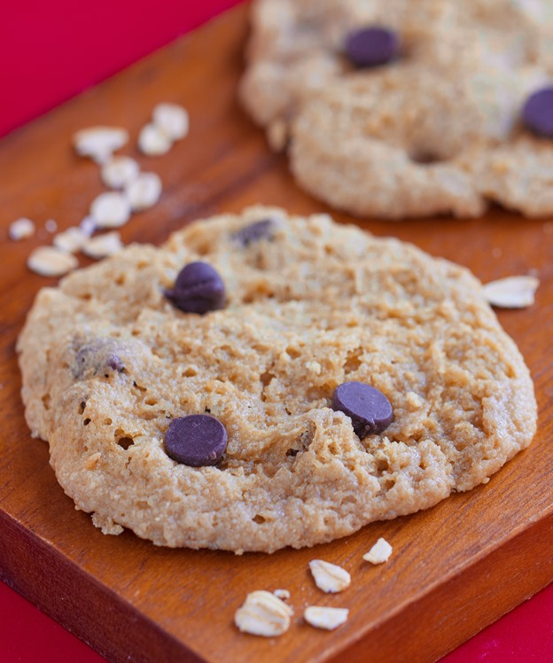 How To Make Chocolate Chip Cookies Without An Oven - Soft and delicious homemade chocolate chip cookies using basic ingredients, ready in 5 minutes or less: http://chocolatecoveredkatie.com/2015/07/16/microwave-cookies-chocolate-chip/