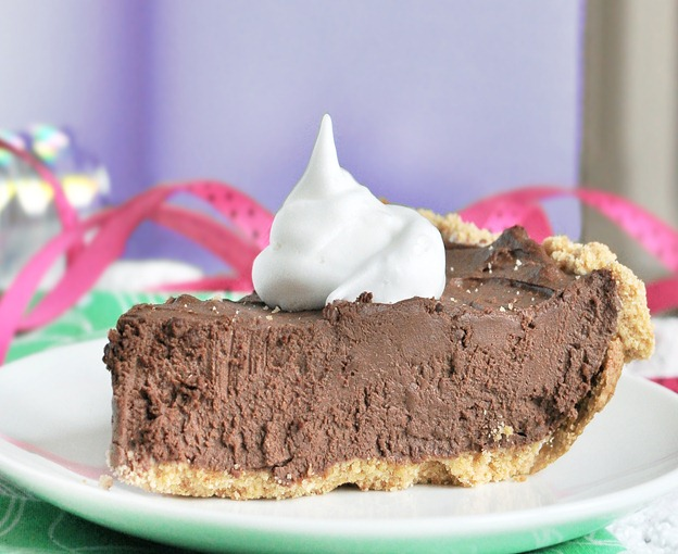 Don't let the healthy ingredients fool you! This rich chocolate pie ...