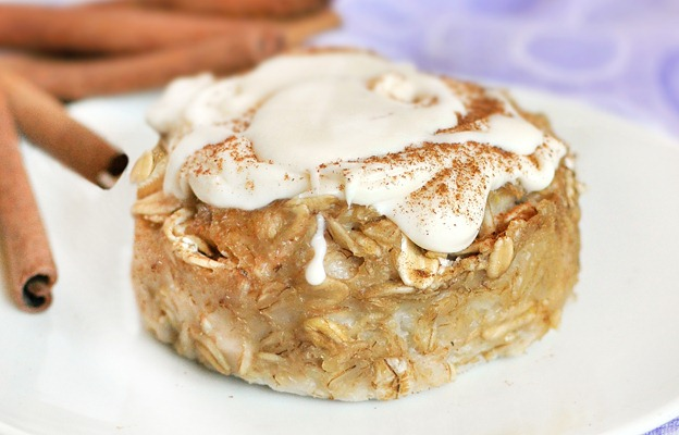 Cinnamon Roll Baked Oatmeal https://chocolatecoveredkatie.com/2011/09/09/cinnamon-roll-baked-oatmeal/