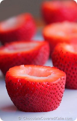 Cream Cheese Filled Strawberries