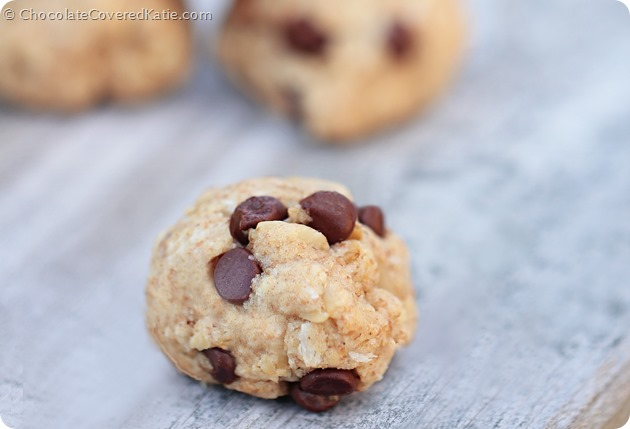 Chocolate Chip Oatmeal Cookies: http://chocolatecoveredkatie.com/2014/06/05/chocolate-chip-oatmeal-cookies/