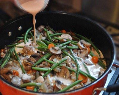 mushroom dinner