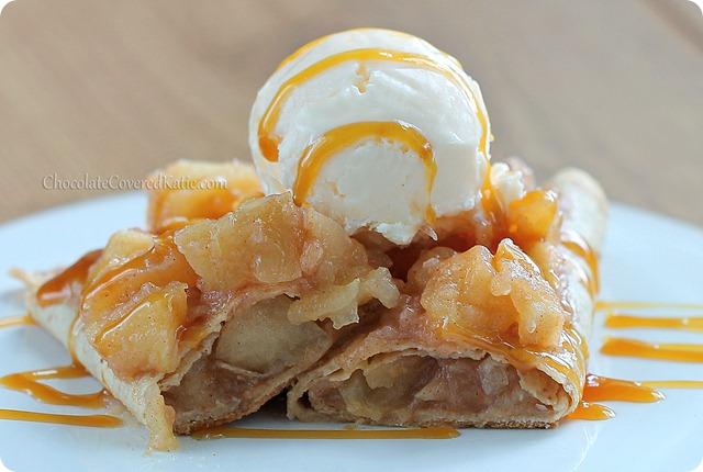 Apple Pie Enchiladas: http://chocolatecoveredkatie.com/2013/09/12/apple-enchiladas/