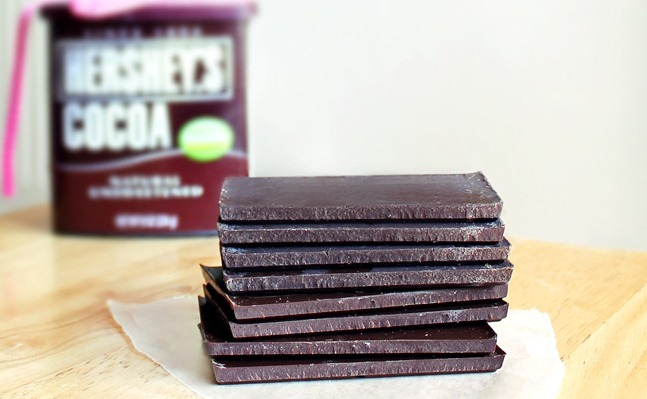 Three Ingredient Chocolate Bars