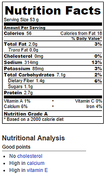 Cheese Bread Nutrition Facts Chocolate Covered Katie
