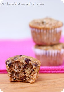 Chocolate Chip Banana Bread Mini Muffins