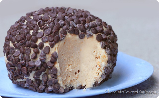 Chocolate Chip Peanut Butter Cheese Ball - 5 Ingredients!