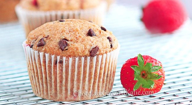 Chocolate Chip Strawberry Muffins