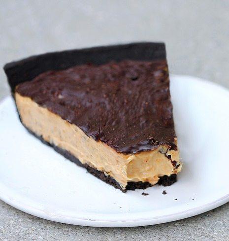 Chocolate Peanut Butter Cup Pie