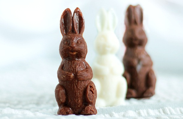 Homemade Chocolate Bunnies - Healthy Easter Swap