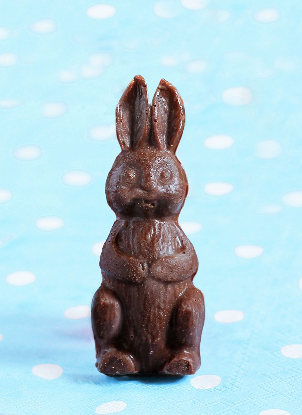 homemade chocolate bunnies