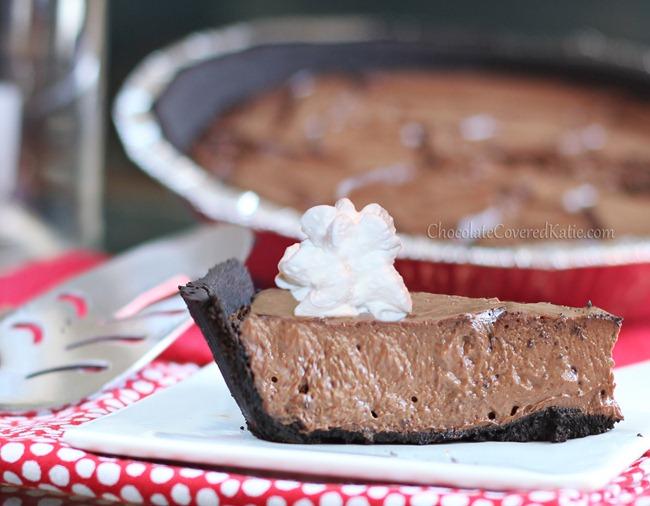 Chocolate Greek Yogurt Pie