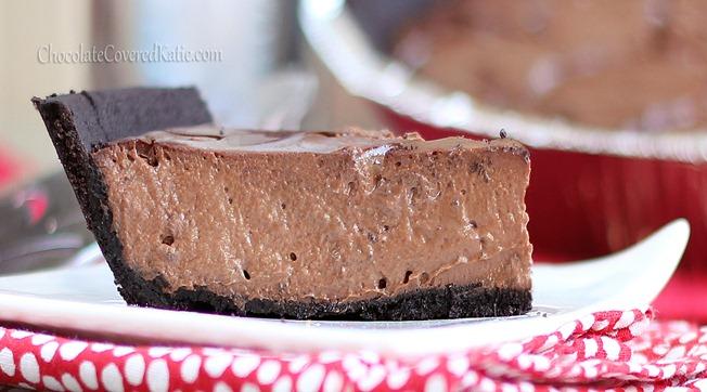 Chocolate Greek Yogurt Cheesecake