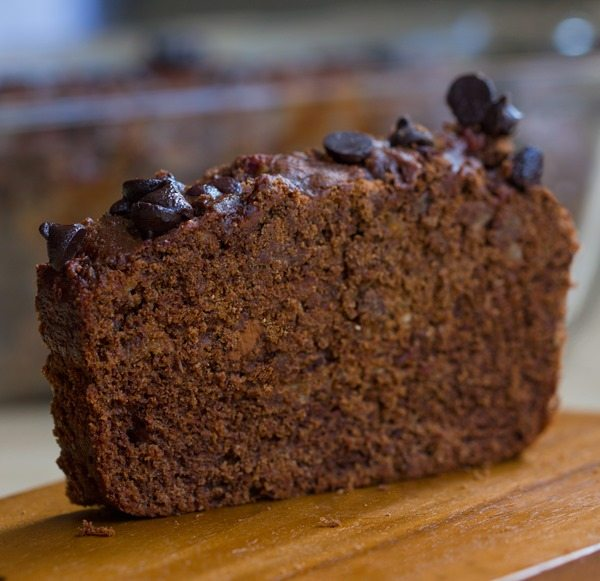 Thick, rich, peanut buttery, hot-from-the-oven chocolate peanut butter banana bread with no refined sugar in the recipe. Need I say more? http://chocolatecoveredkatie.com/2015/07/08/chocolate-peanut-butter-banana-bread/