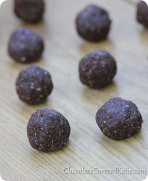 chocolate brownie balls
