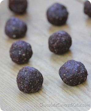 chocolate brownie balls