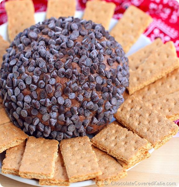 Chocolate Brownie Dessert Cheesecake Ball: http://chocolatecoveredkatie.com/2014/06/16/chocolate-brownie-cheesecake-ball/