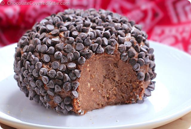 Chocolate Brownie Cheesecake Ball: http://chocolatecoveredkatie.com/2014/06/16/chocolate-brownie-cheesecake-ball/