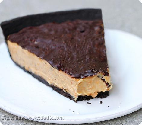 Chocolate Peanut Butter Pie http://chocolatecoveredkatie.com/2014/02/17/chocolate-peanut-butter-cup-pie/