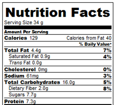 protein bars calories