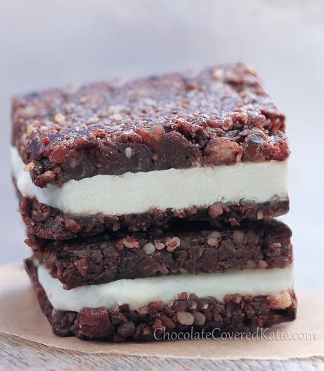 No-Bake Chocolate Cheesecake Brownie Bars: https://chocolatecoveredkatie.com/2013/07/14/chocolate-cheesecake-brownies/