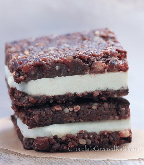 No-Bake Chocolate Cheesecake Brownie Bars: http://chocolatecoveredkatie.com/2013/07/14/chocolate-cheesecake-brownies/
