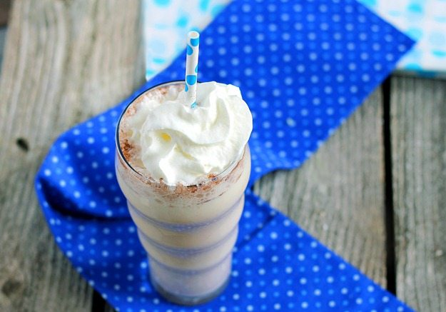 Readers voted this the top post-workout shake of the year! You'd swear it's full of fat and empty calories, but surprisingly it's not at all! Recipe here: http://chocolatecoveredkatie.com/2012/04/27/vanilla-chai-breakfast-shakes/