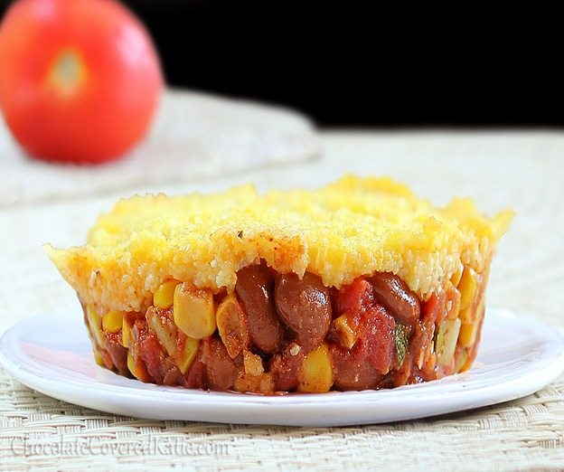 Copycat Amy's Mexican Tamale Pies. Meatless and easy to make.