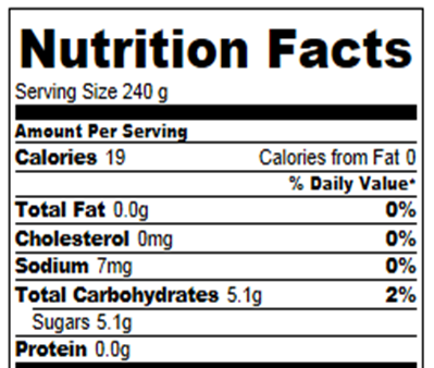 Nutrition information is for one cup (recipe makes about 2.5 servings). Calories and nutrition information are based on the first (non-instant) cream soda ...