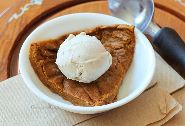 Perfect for those who want to avoid holiday weight gain without giving up dessert... this rich pumpkin pie is so low in calories that you could actually eat the ENTIRE pie (8 servings) for under 450 calories! http://chocolatecoveredkatie.com/2012/11/08/crustless-pumpkin-pie/ @choccoveredkt