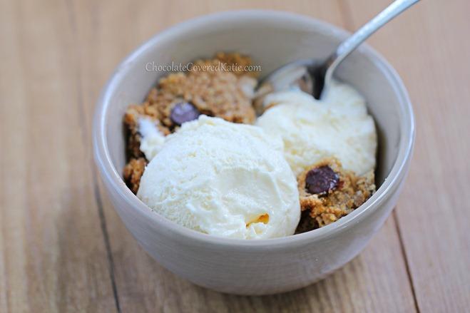 Healthy Ice Cream Recipe: http://chocolatecoveredkatie.com/2013/07/05/ice-cream-recipe-healthy-vegan/