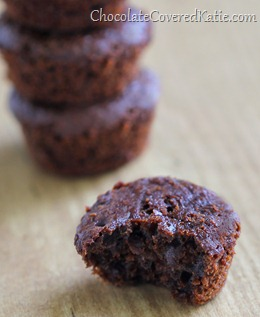 Secretly Healthy Chocolate Mini Muffins