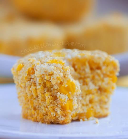 healthy corn muffin