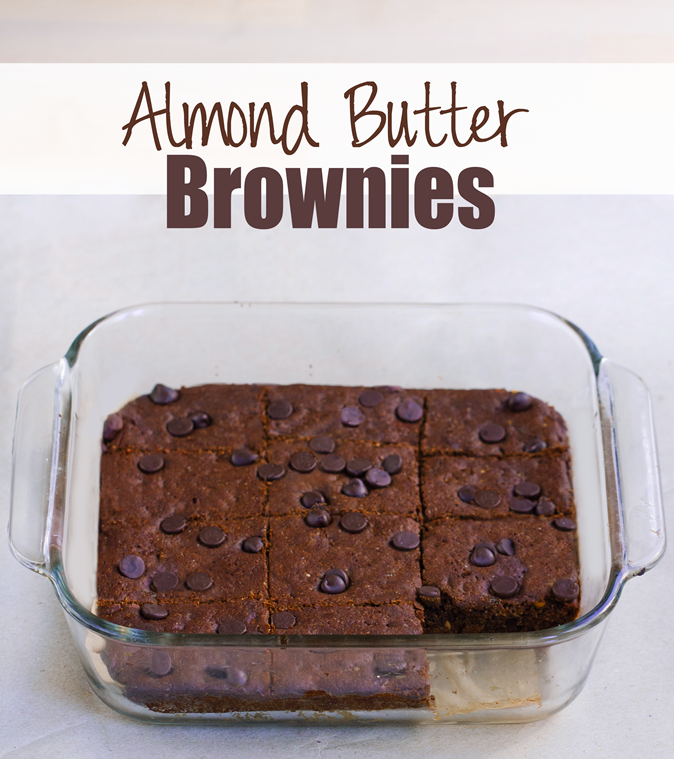 Fudgy homemade brownies - I make these at least once a week... No one ever can tell they're so healthy! ...from @choccoveredkt... Full recipe: https://chocolatecoveredkatie.com/2015/10/19/almond-butter-brownies-flourless-vegan/