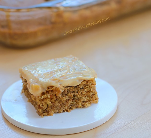 Can be oil-free / low-calorie / gluten-free / sugar-free / and vegan! Recipe---> http://chocolatecoveredkatie.com/2015/04/27/frosted-peanut-butter-snack-cake/
