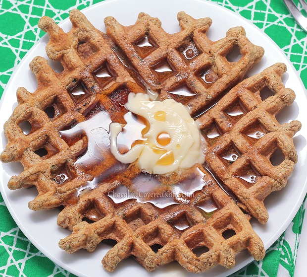 Gluten Free Cinnamon Sugar Waffles - Chocolate-Covered Katie