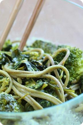 green spaghetti
