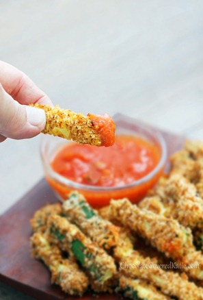 Healthy Crispy Baked Zucchini Fries