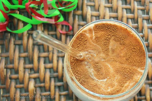 healthy eggnog protein shake!
