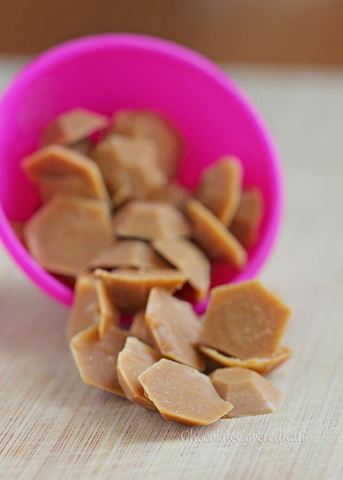 NO corn syrup, NO refined sugar, NO trans fat - Healthy Peanut Butter Chips: http://chocolatecoveredkatie.com/2013/04/22/healthy-homemade-vegan-peanut-butter-chips/