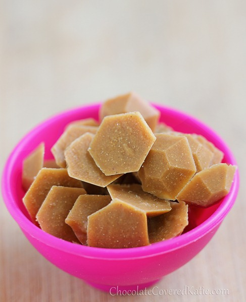Homemade Peanut Butter Chips: http://chocolatecoveredkatie.com/2013/04/22/healthy-homemade-vegan-peanut-butter-chips/