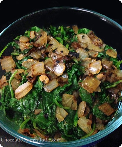 How to cook kale (the easy way) http://chocolatecoveredkatie.com/2014/02/19/cook-kale/