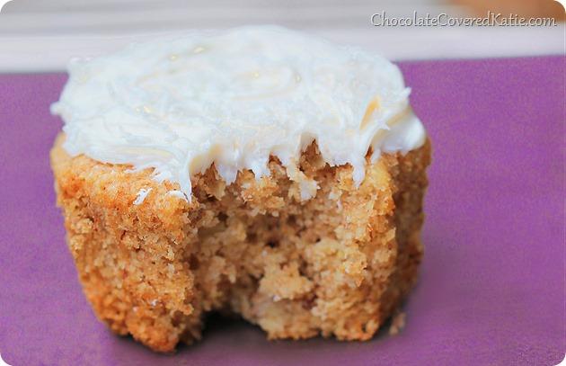 Healthy Hummingbird Cupcakes