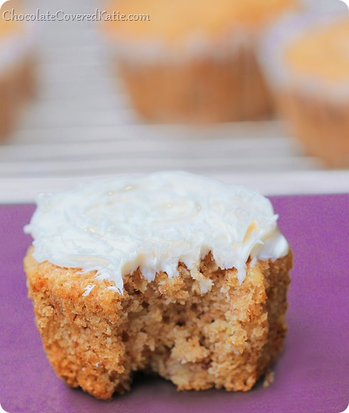 Healthy Hummingbird Cupcakes