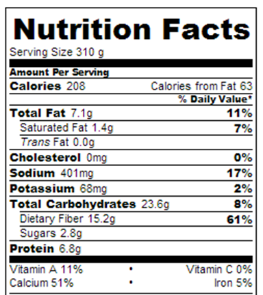 Instant Cereal Nutrition Facts – Chocolate Covered Katie