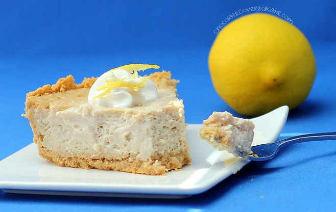 healthy lemon cheesecake