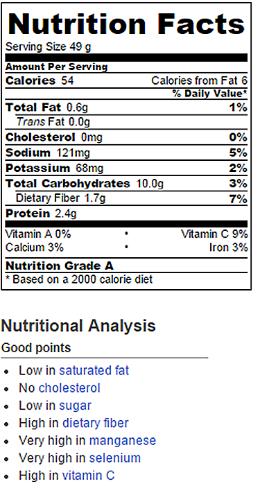 Cheese Coffee Cake Nutrition Facts